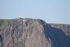 Vue pendant la croisière au-dessus du plateau du nord de cap en Norvège image libre de droits
