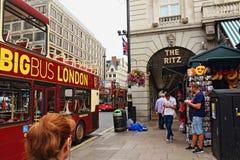 Vue Piccadilly Londres R-U de rue Photos libres de droits
