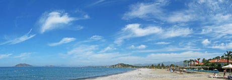Vue pittoresque sur la plage image libre de droits
