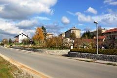 Vue Pivka Postojna, région de village de Prestranek Slovénie de Ljubljana Notranjska Image libre de droits