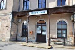 Vue Pivka Postojna, région de village de Prestranek Slovénie de Ljubljana Notranjska Photos stock