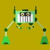 Vue plate de conception de l'illustration 02 de robot Photos libres de droits