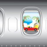 Vue plate de fenêtre Photos libres de droits