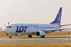Vue plate de LOT Airlines photos stock