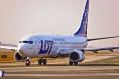 Vue plate de LOT Airlines images libres de droits