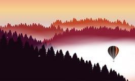 Vue plate de paysage illustration libre de droits