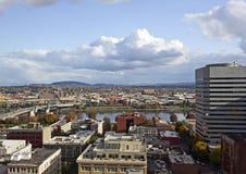 Vue Portland à l'est du centre de fleuve OU image stock