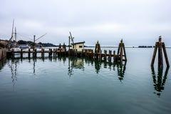 Vue portuaire en Californie images libres de droits