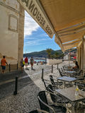 Vue Portugal de café Photo stock