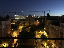 Vue Portugal de nuit de Lisbonne Lisbonne Image libre de droits