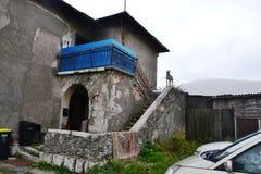 Vue Postojna, burjaka de village de Razdrto Slovénie de vent de région de Nanos Notranjska de bâti Photographie stock libre de droits