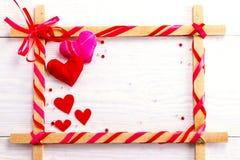 Vue pour des félicitations le jour du ` s de Valentine Photo libre de droits