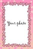 Vue pour la photo avec le coeur Photographie stock libre de droits