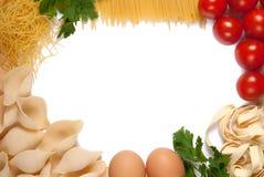 Vue pour la recette de pâtes Image libre de droits