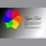 Vue pour le texte avec l'abstraction de fleur de six-couleur Images libres de droits