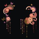 Vue pour le texte avec l'ornement floral Photos stock