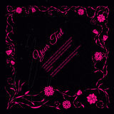 Vue pour le texte avec le motif floral abstrait élégant Images stock