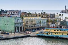 Vue près de port de La Havane Images libres de droits