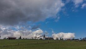 Vue près de village de Horni Studenky dans la région de Zabreh Photos stock