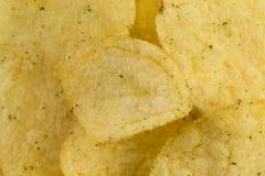 Vue préparée de plan rapproché de casse-croûte de pommes chips photo libre de droits