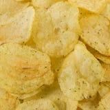 Vue préparée de plan rapproché de casse-croûte de pommes chips photos stock