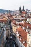 Vue Prague d'en haut photos stock