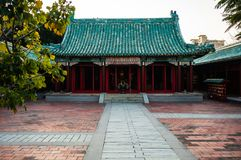 Vue principale de hall de temple de tombeau de Koxinga à Tainan Taïwan d commémoratif photos libres de droits