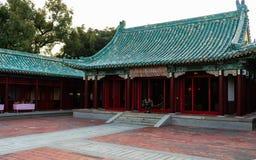 Vue principale de hall de temple de tombeau de Koxinga à Tainan Taïwan d commémoratif photographie stock