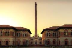 Vue principale de l'entrée à l'usine d'adda de ` du crespi d Photos libres de droits