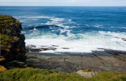 Vue principale de Sunburgh, les Îles Shetland, Ecosse Images stock
