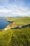 Vue principale de Sunburgh, les Îles Shetland, Ecosse Photographie stock