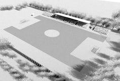 Vue principale du stade de football Images stock
