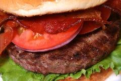 Vue proche d'hamburger Photo libre de droits