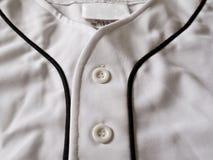 Vue proche d'un base-ball Jersey Photographie stock