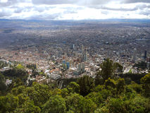 Vue prolongée de Bogota, Colombie Photo stock