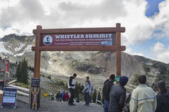 Vue près de sommet de Whistler Image stock