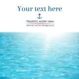 Vue réaliste abstraite de l'eau de turquoise Photo stock
