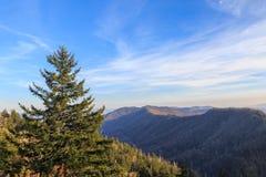 Vue récemment découverte d'espace de montagnes de Smokey Photos libres de droits