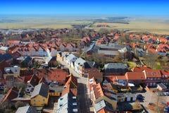 Vue régionale au-dessus de Ribe, Danemark Photos stock