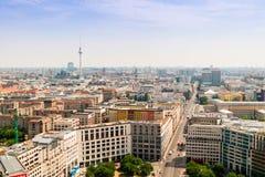 Vue régionale de rue de Leipziger à Berlin Photos libres de droits