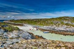 Vue régionale sur l'île norvégienne des loups Photo libre de droits