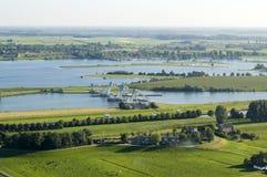 Vue régionale sur la rivière le Rhin Photos stock