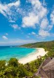Vue renversante d'Anse grand Photo libre de droits