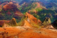 Vue renversante dans le canyon de Waimea Images stock
