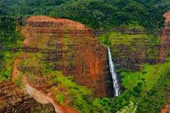Vue renversante dans le canyon de Waimea, Kauai, Hawaï Photographie stock libre de droits