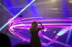 Vue renversante du concert de la veille de nouvelles années sur le Th Photographie stock libre de droits