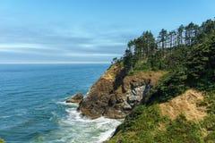 Vue renversante du littoral du nord-ouest Pacifique du parc d'état de déception de cap Washington Etats-Unis photos stock
