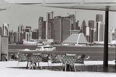 Vue restaruant de Doha image stock