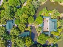 Vue a?rienne au-dessus de parc de lac moon au printemps, Wuhan, Hubei, Chine image stock