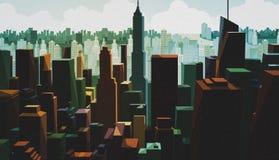 Vue a?rienne d'un capital du centre Vue de paysage urbain avec la conception de tour Panorama de district des affaires avec le ha photographie stock